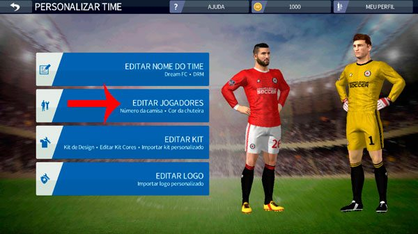 Como editar o nome do time e editar os jogadores no Dream League Soccer 2019