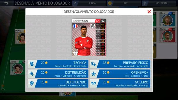 Como desenvolver seu atleta no Dream League Soccer 2019