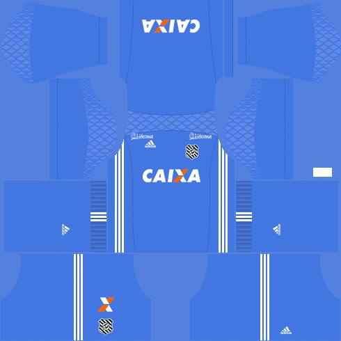 Kit figueirense dls17 uniforme goleiro casa 17-18