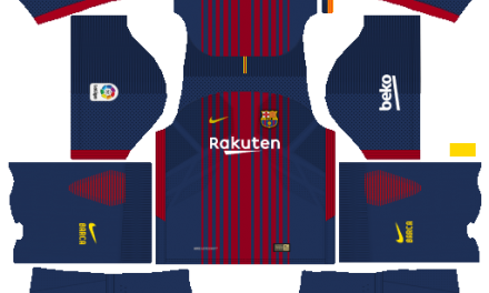 Kit Barcelona 2018 novo uniforme para DLS 18 – Dream League Soccer