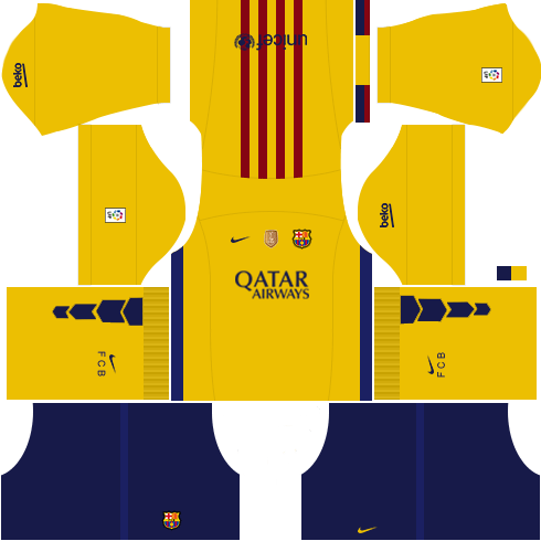 378eefcbe4a6f Barcelona 2018 Kit for DLS-17 Dream League Soccer creat Your Dream ...
