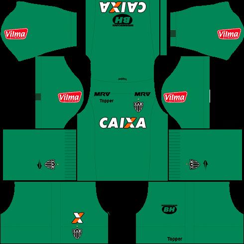 kit atletico mineiro dls17 goleiro fora de casa 17-18