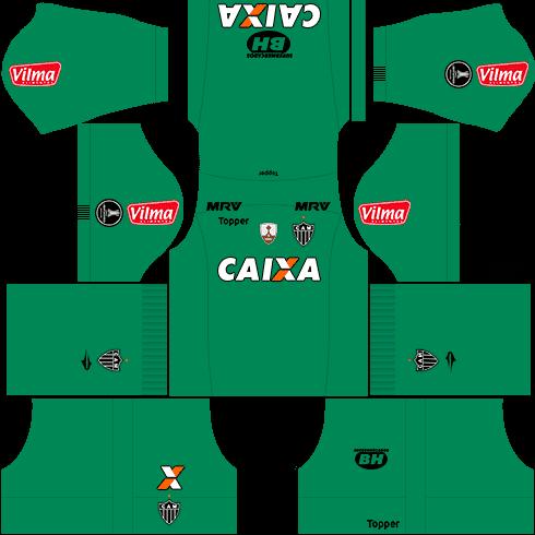 kit atletico mineiro dls17 libertadores goleiro fora de casa