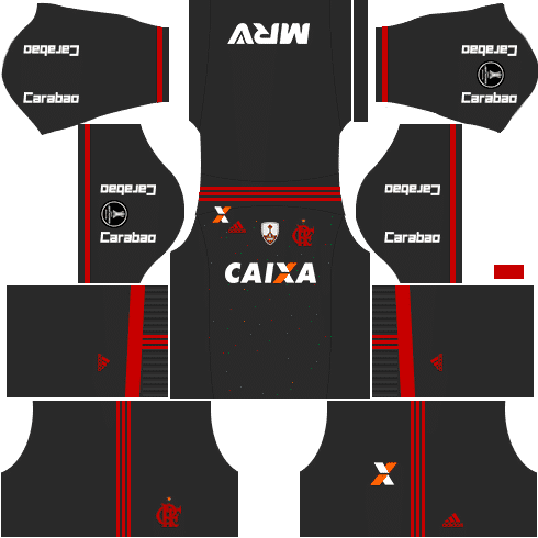 kit flamengo dls17 uniforme libertadores alternativo