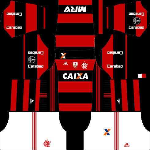 kit flamengo dls17 uniforme libertadores casa
