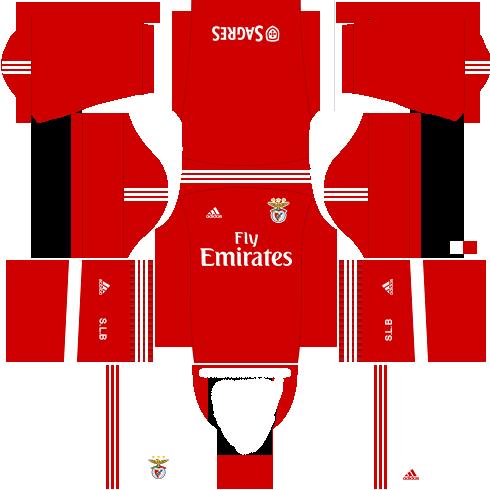 Kit benfica dls17 uniforme casa 15-16