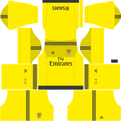 Kit benfica dls17 uniforme goleiro casa 15-16