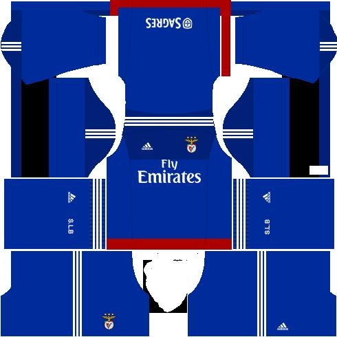 Kit benfica dls17 uniforme goleiro fora de casa 15-16