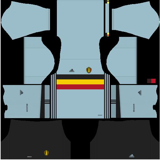 kit Belgium - belgica dls17 fora de casa