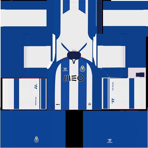 kit Porto dls17 uniforme casa 14-15