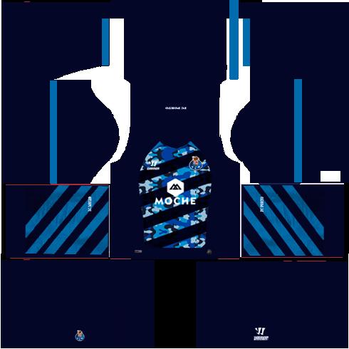 kit Porto dls17 uniforme fora de casa 14-15