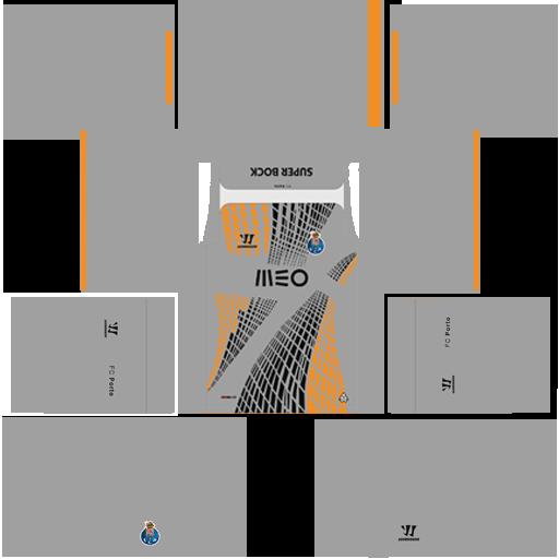 kit Porto dls17 uniforme goleiro casa 14-15