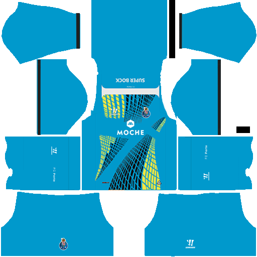 kit Porto dls17 uniforme goleiro fora de casa 14-15
