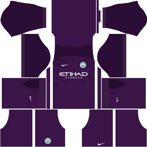 kit manchester city dls17 uniforme goleiro casa