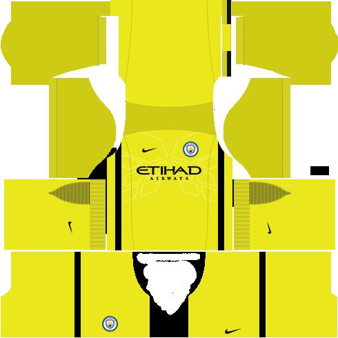 kit manchester city dls17 uniforme goleiro fora de casa