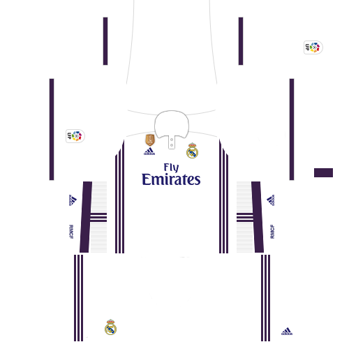 kit real madrid dls17 uniforme casa 16-17