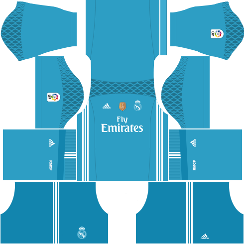 kit real madrid dls17 uniforme goleiro casa 16-17