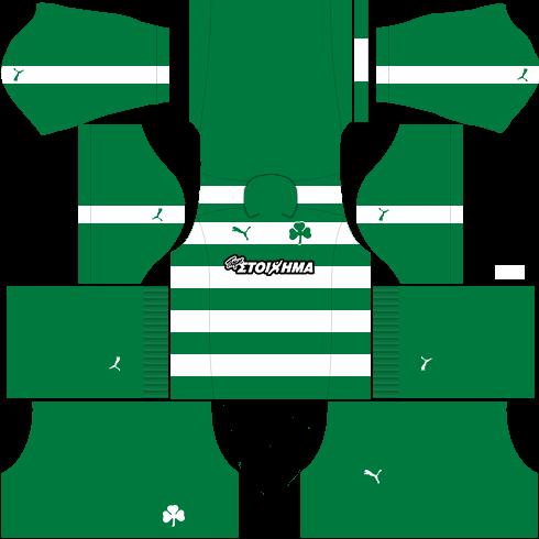 kit Panathinaikos dls16 fora de casa