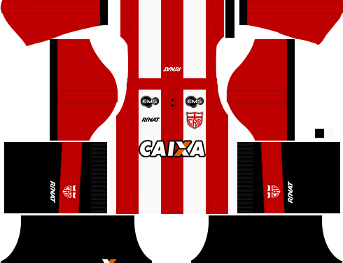 Kit CRB 2018 novo uniforme para DLS 18 – Dream League Soccer