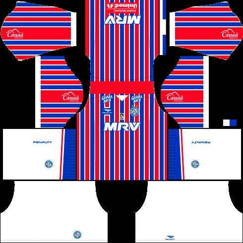 kit bahia dls17 uniforme alternativo casa