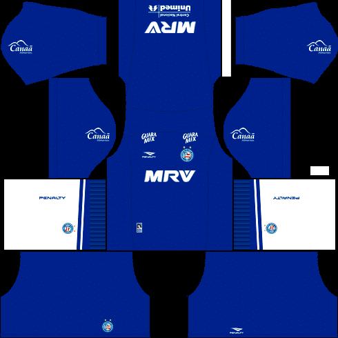 kit bahia dls17 uniforme alternativo goleiro casa