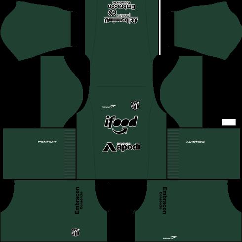 kit ceara dls17 uniforme 15-16 goleiro fora de casa