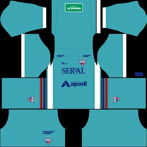 kit fortaleza dls16 uniforme goleiro casa 16-17