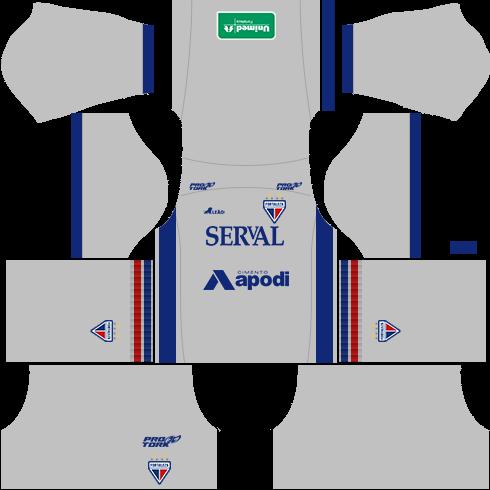 kit fortaleza dls16 uniforme goleiro fora de casa 16-17