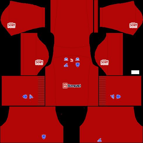 kit paysandu dls17 uniforme goleiro casa 16-17