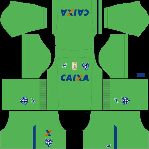 kit paysandu dls17 uniforme goleiro fora de casa