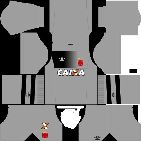 kit vasco da gama dls17 uniforme goleiro casa 17-18