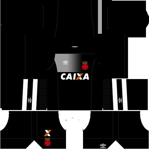 kit vasco da gama dls17 uniforme goleiro fora de casa 17-18