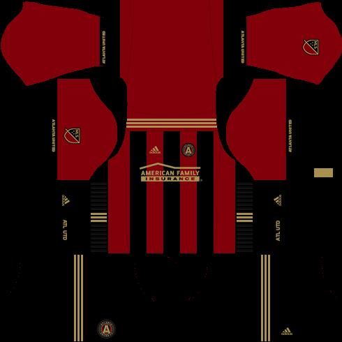 Kit Atlanta United dls17 uniforme casa