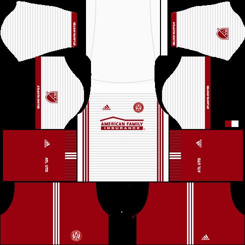 Kit Atlanta United dls17 uniforme fora de casa