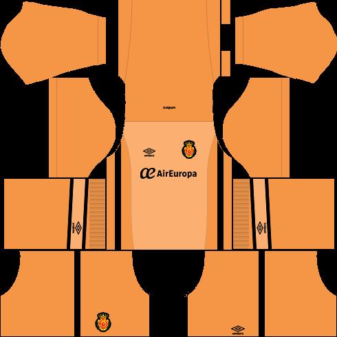 Kit Real Mallorca dls17 goleiro casa