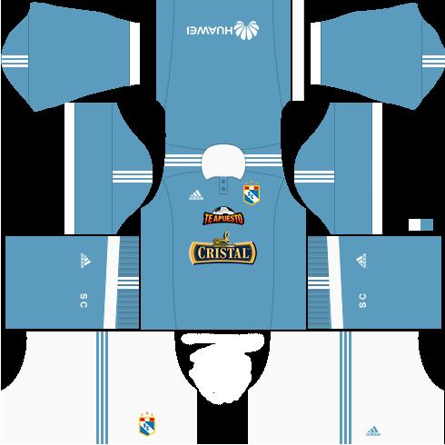 Kit Sporting Cristal dls17 uniforme casa
