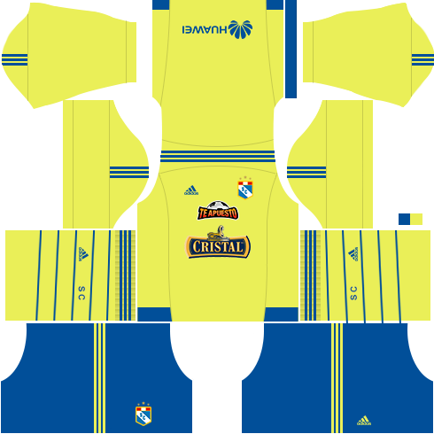 Kit Sporting Cristal dls17 uniforme fora de casa