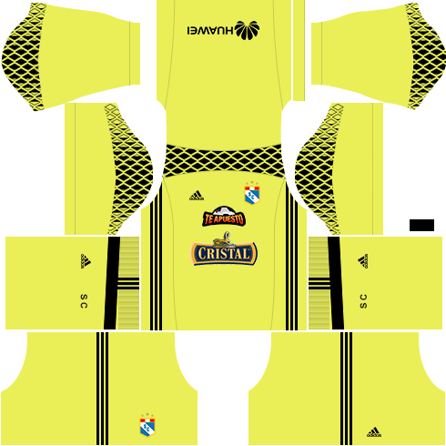 Kit Sporting Cristal dls17 uniforme goleiro casa