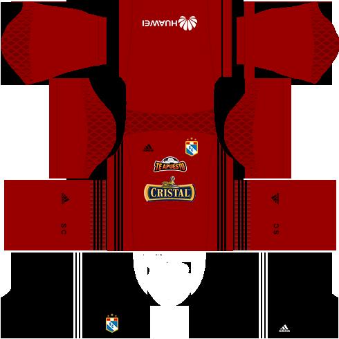 Kit Sporting Cristal dls17 uniforme goleiro fora de casa