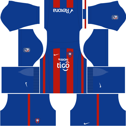 Kit cerro porteño dls17 uniforme casa