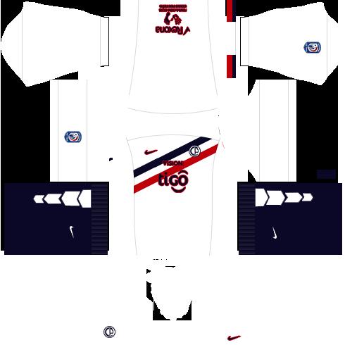 Kit dls17 cerro porteño uniforme fora de casa 15-16