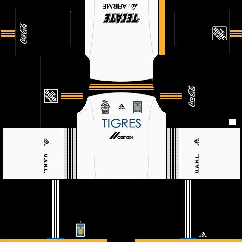 Kit tigres dls17 uniforme Alternativo