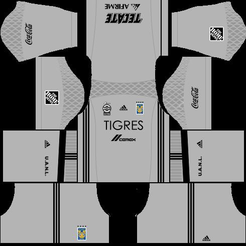 Kit tigres dls17 uniforme Goleiro casa