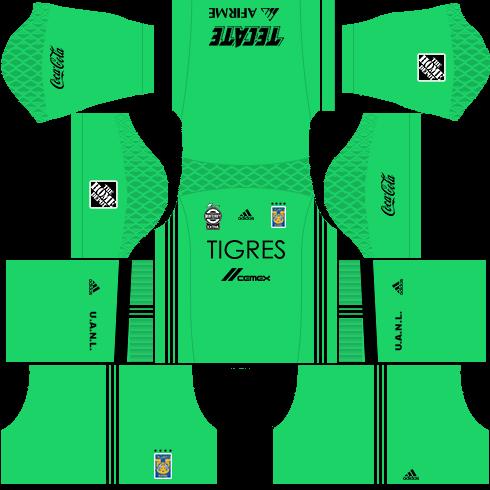 Kit tigres dls17 uniforme Goleiro fora de casa
