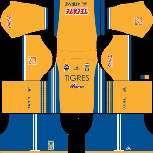 Kit tigres dls17 uniforme casa