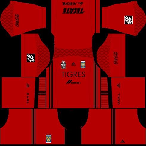Kit tigres dls17 uniforme goleiro Alternativo