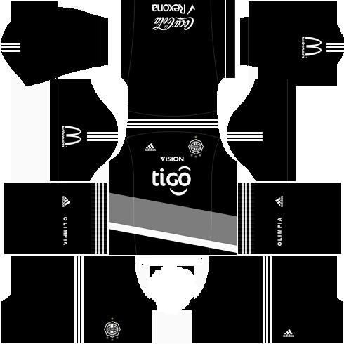 Kit uniforme olimpia dls17 fora de casa 17-18