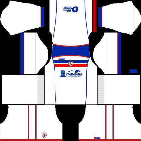 kit itabaiana dls17 uniforme fora de casa
