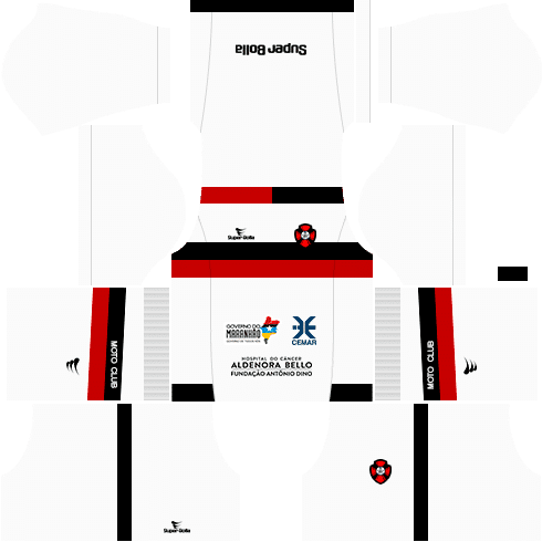 kit moto clube dls17 fora de casa