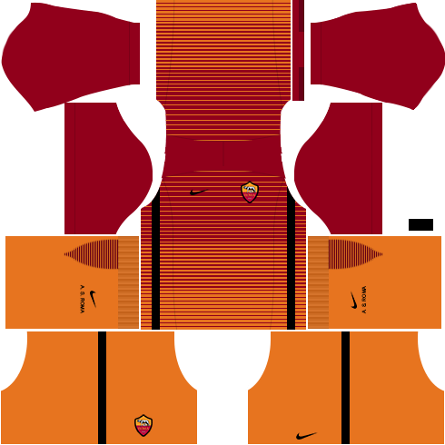 kit roma dls17 uniforme Alternativo